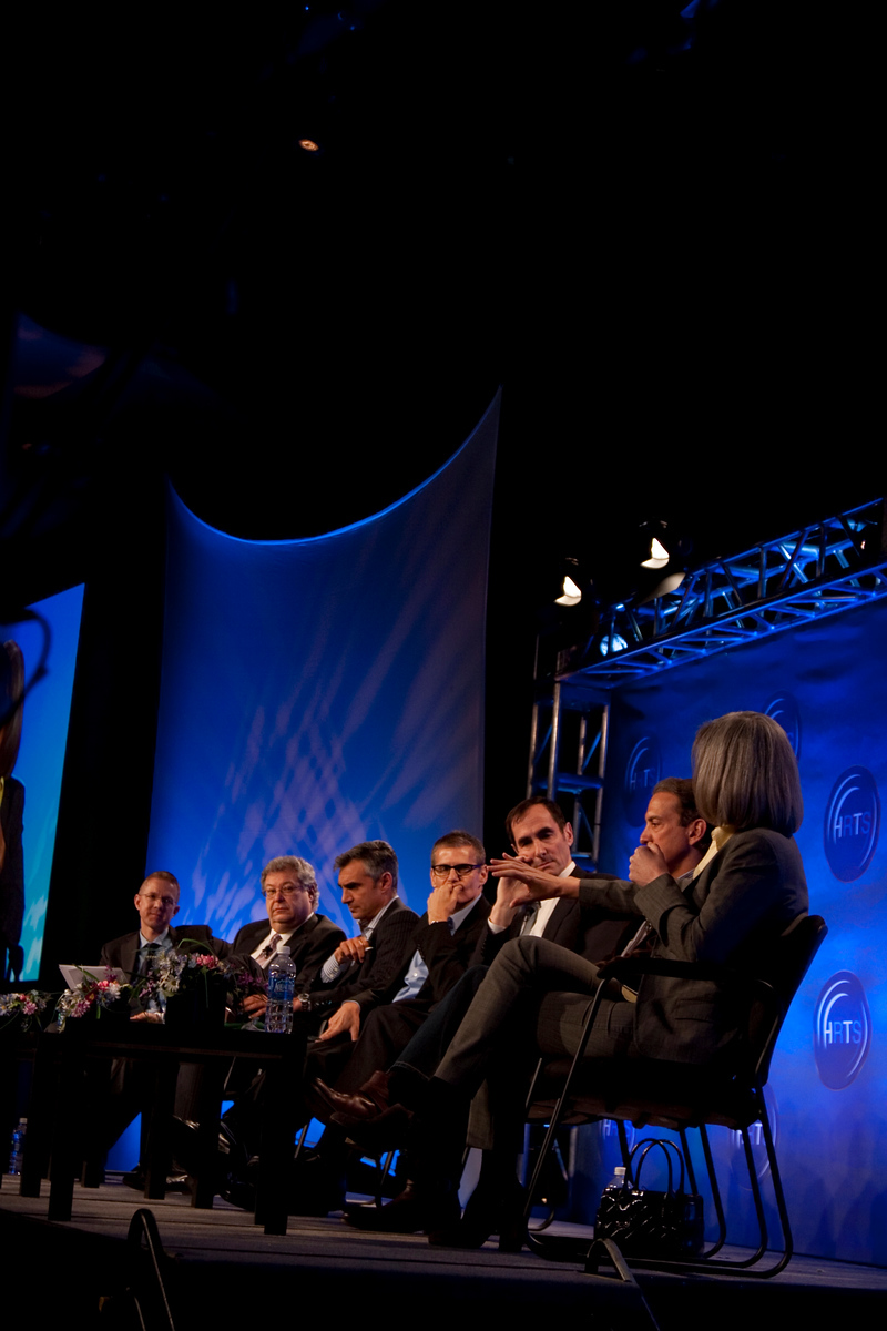 Kevin Beggs (Lionsgate), Steve Koonin (Turner Ent. Networks), Peter Liguori (Discovery Communications), Michael Lombardo (HBO), Joshua Sapan (Rainbow Media Holdings LLC) Van Toffler (MTV Networks Music/Films/Logo Group) & Lauren Zalaznick (NBC Universal Women and Lifestyle Ent. Networks)