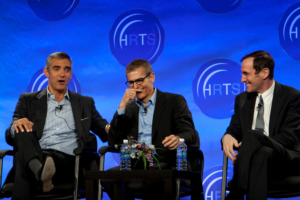 Peter Liguori (Discovery Communications), Michael Lombardo (HBO), Joshua Sapan (Rainbow Media Holdings LLC)