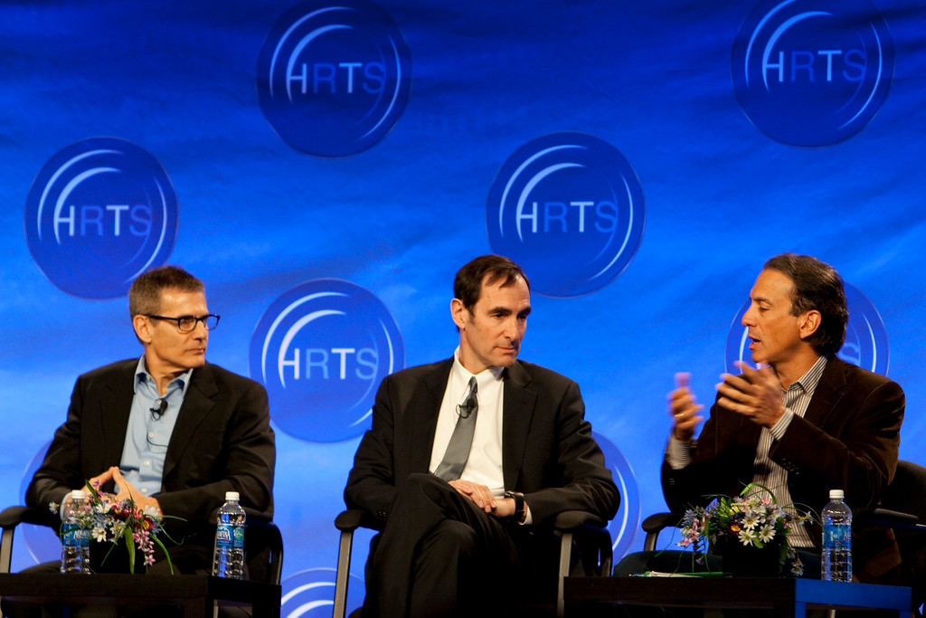 Michael Lombardo (HBO), Joshua Sapan (Rainbow Media Holdings LLC) Van Toffler (MTV Networks Music/Films/Logo Group)