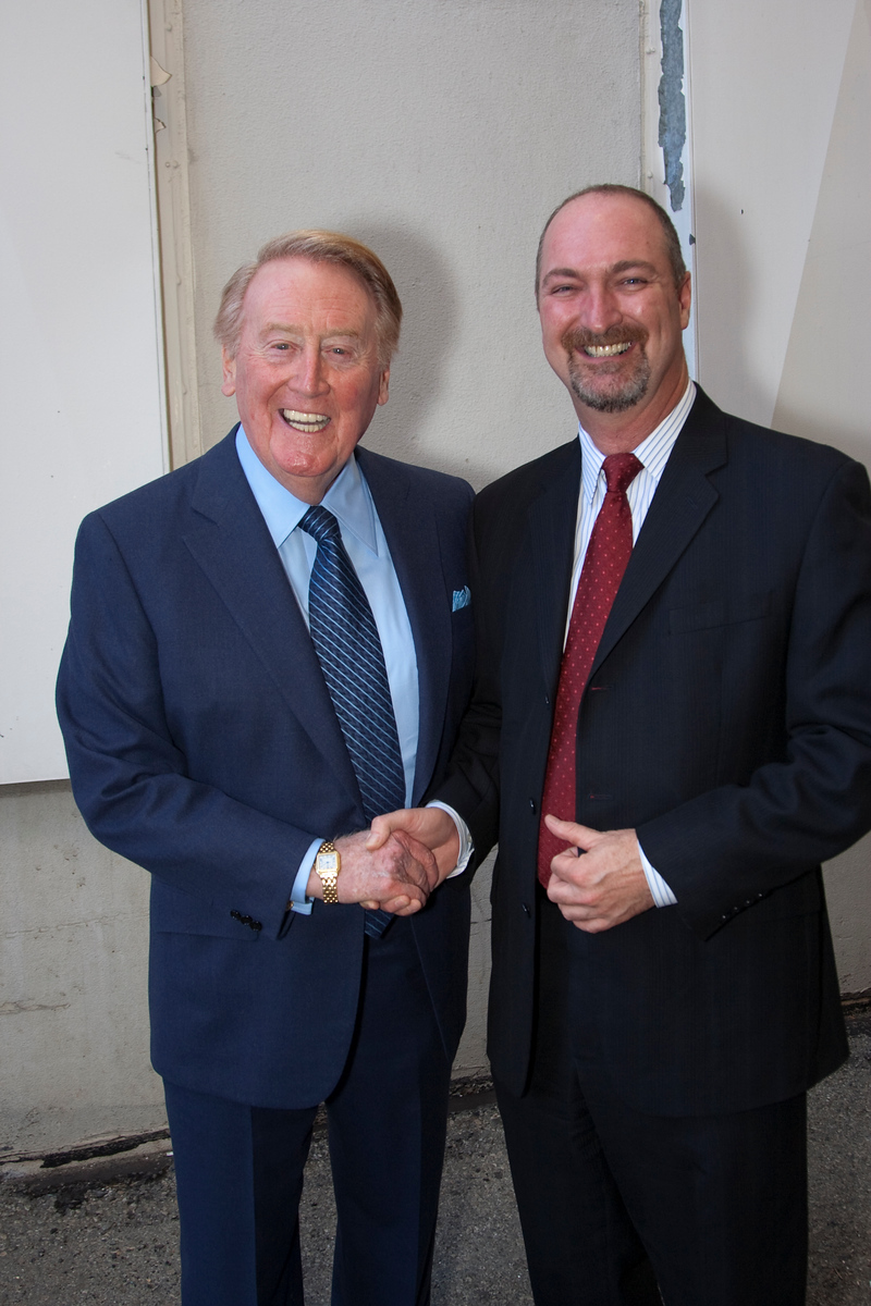 Vin Scully and Dave Ferrara.