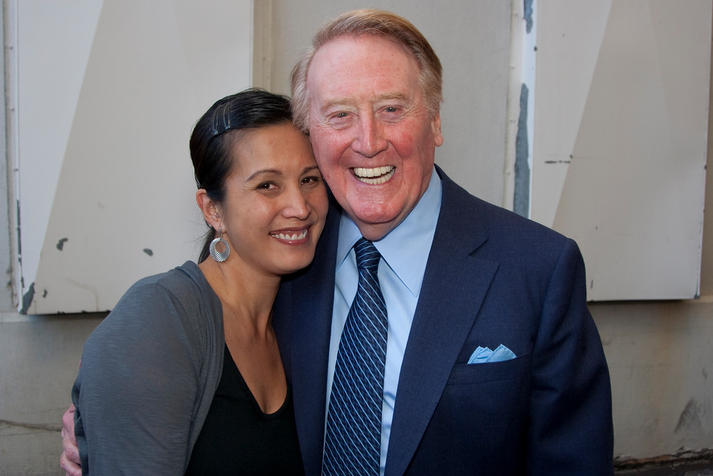 Chyna (Chyna Entertainment and Design) and Vin Scully.