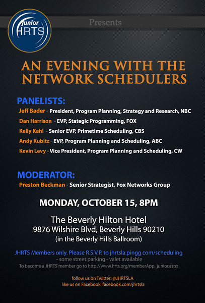 Network Schedulers panel 10-15-12